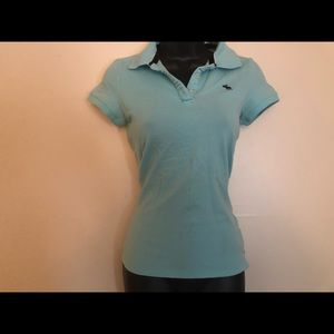 Abercrombie and Fitch A+F stretch women's polo med